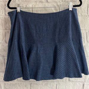 NWT Banana Republic Pin Striped Miniskirt